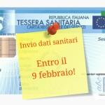Invio dati sanitari entro il 9 febbraio